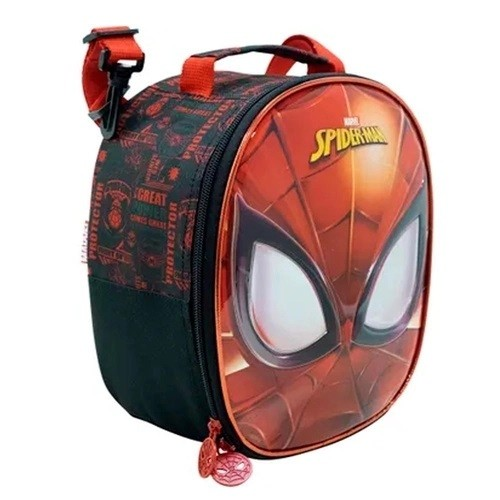 Kit Mochila com Rodinha, Estojo e Lancheira Spider Man - Xeryus Kids