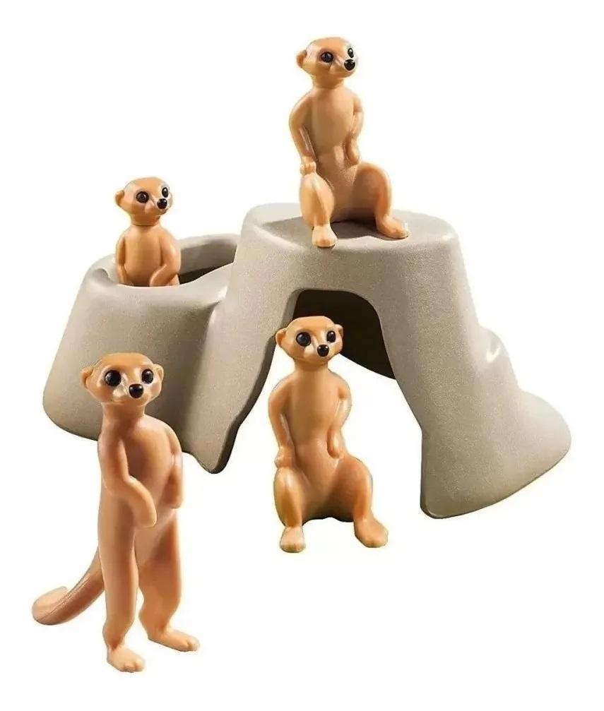 Kit Playmobil Animais do Mundo 17 Peças - Sunny