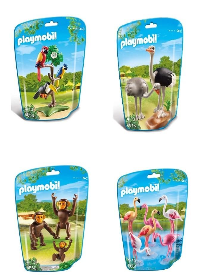 Kit Playmobil Animais do Mundo 19 Peças - Sunny