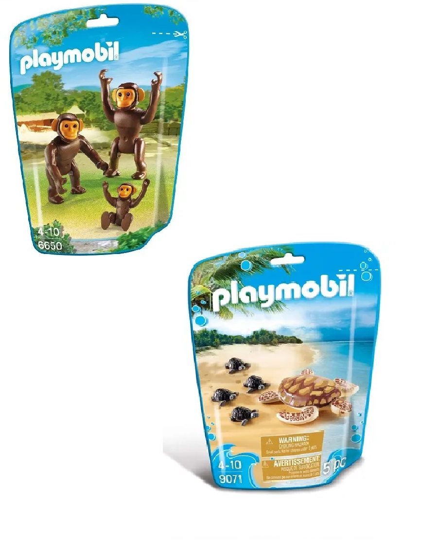 Kit Playmobil Animais do Mundo 25 Peças - Sunny