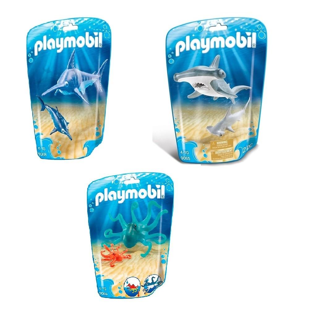 Kit Playmobil Animais Marinhos 06 Peças - Sunny