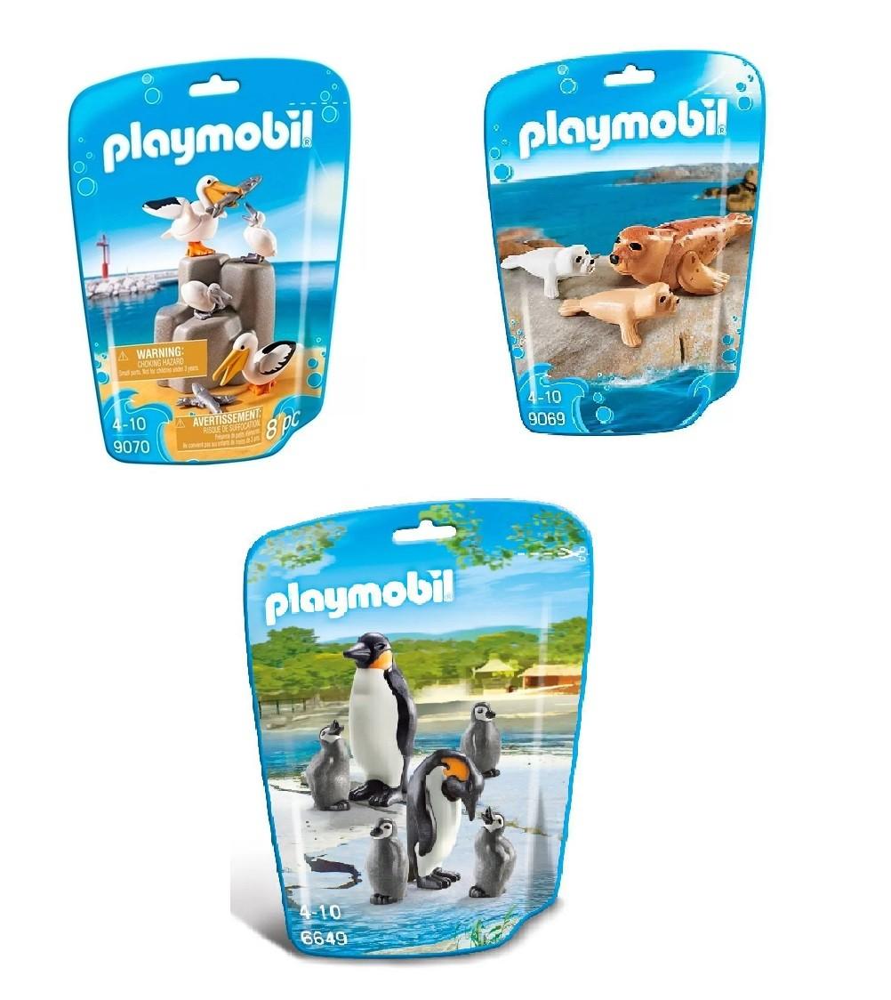 Kit Playmobil Animais Marinhos 17 Peças - Sunny