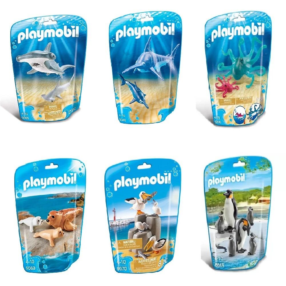Kit Playmobil Animais Marinhos 23 Peças - Sunny