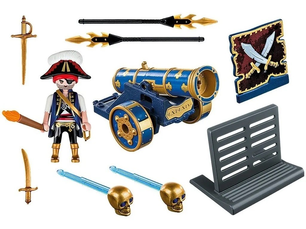 Kit Playmobil Piratas 113 Peças - Sunny