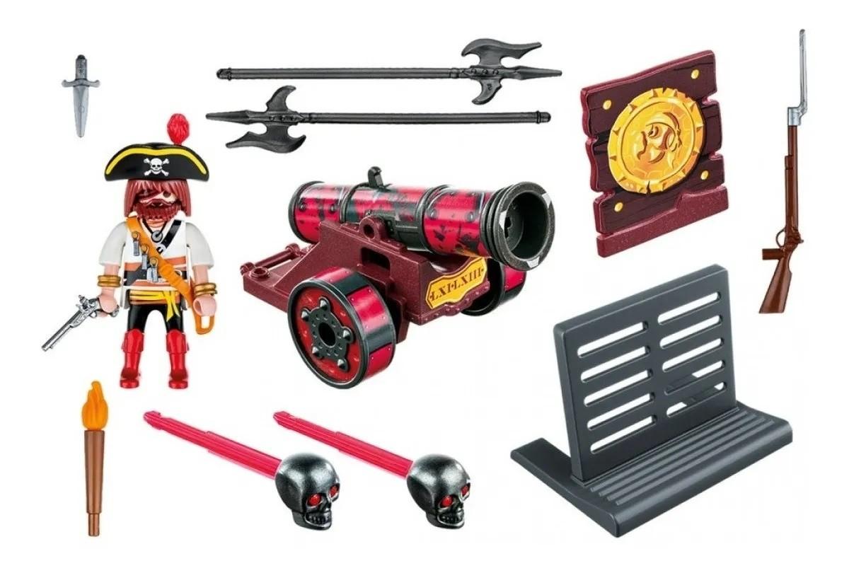 Kit Playmobil Piratas 65 Peças - Sunny