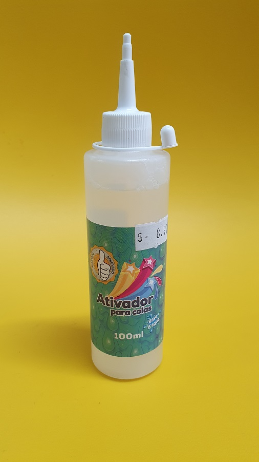 Kit Slime 06 Colas Clear Colors + Ativador + Base Fluffy