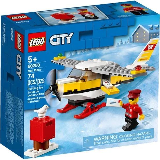 Lego City  Avião dos Correios 74 Peças - 60250