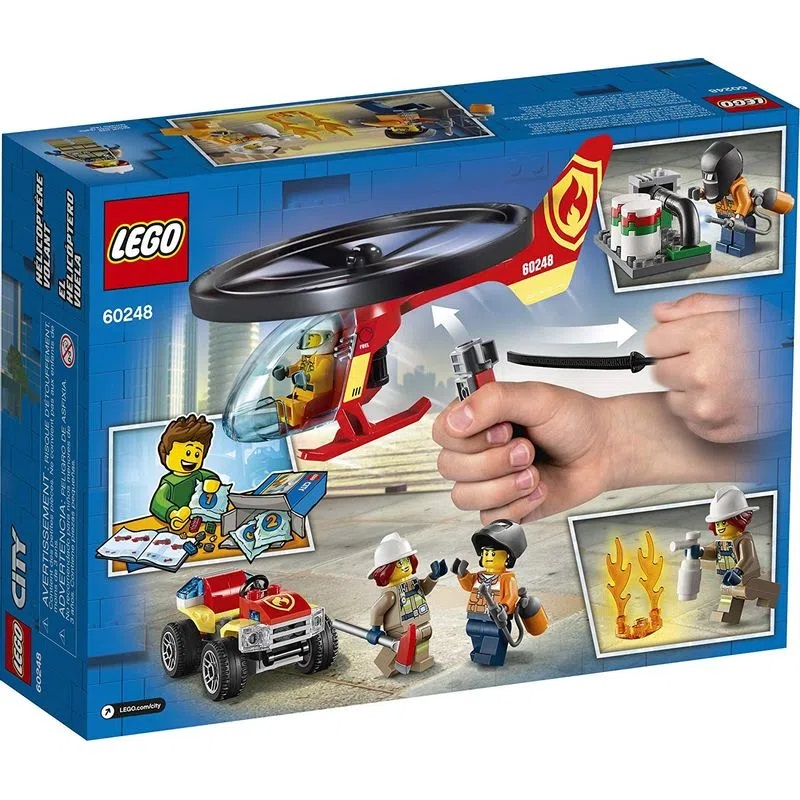 Lego City Helicóptero de Combate ao Fogo 93 Peças- 60248