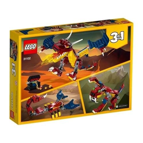 Lego Creator 3 em 1 Dragão de Fogo Fire Dragon - 31102