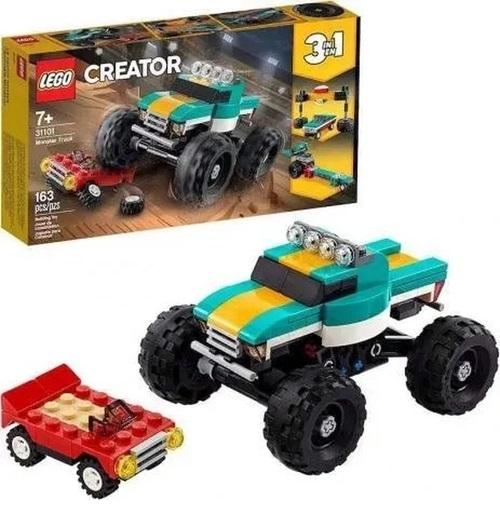 Lego Creator 3 em 1 Monster Truck Caminhão Gigante - 31101