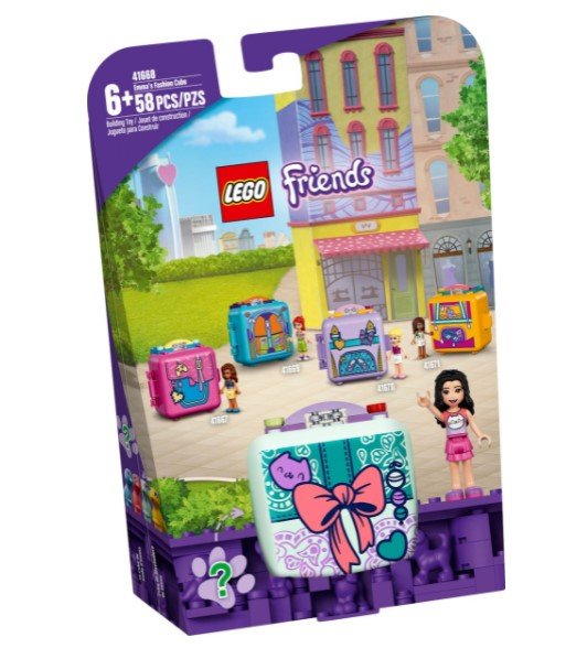 Lego Friends Cubo Atêlie de Moda da Emma 41668 58 Peças