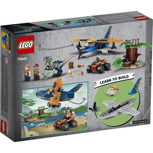 Lego Jurassic World Velociraptor: Biplano Missão de Resgate - 75942