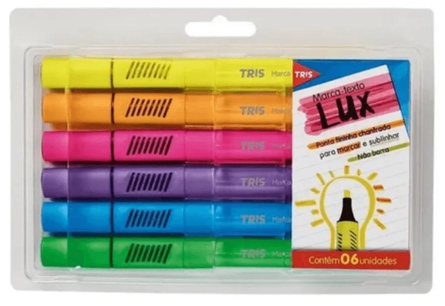 Marca Texto Lux Neon Tris 6 Unidades