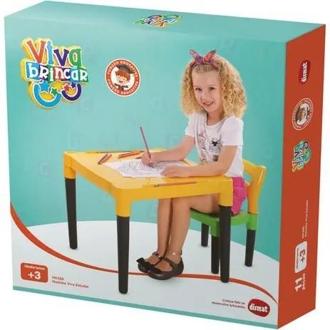 Mesinha Infantil com Cadeira Monta e Desmonta Viva Estudar - Dismat