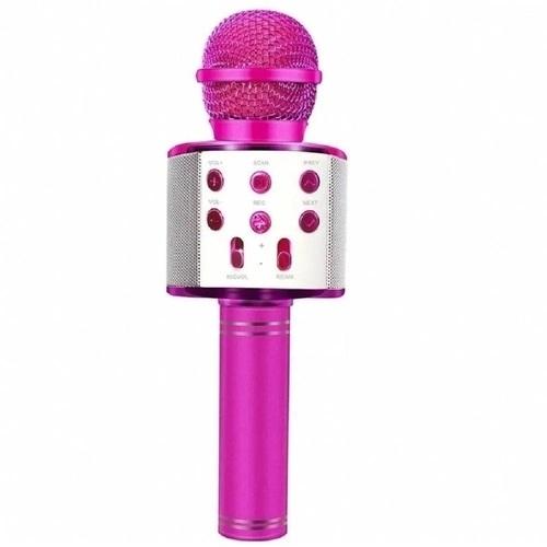 Microfone Bluetooth Karaokê Show Rosa - Toyng