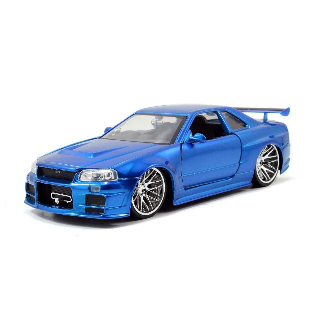 Miniatura Carro Nissan Skyline GT-R Azul Brian Velozes e Furiosos 1:24 Jada Toys