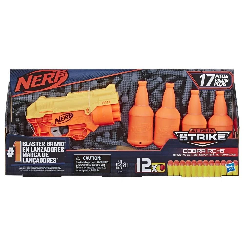 Nerf Alpha Strike Cobra Rc-6 Kit com Alvos 17 Peças - Hasbro