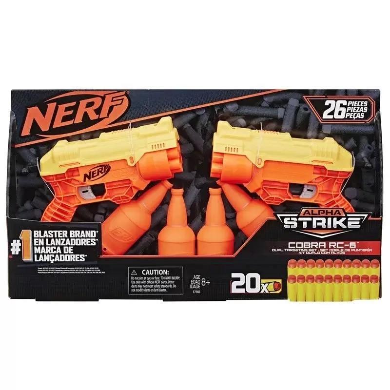 Nerf Alpha Strike Cobra Rc-6 Kit Duplo com Alvos 26 Peças - Hasbro