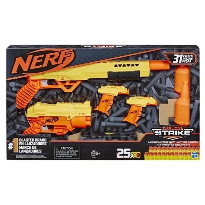 Nerf Alpha Strike Kit Missão Secreta 31 Peças - Hasbro