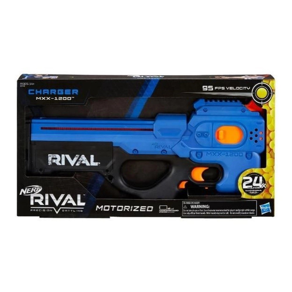 Nerf Rival Charger MXX - 1200 Equipe Azul - Hasbro
