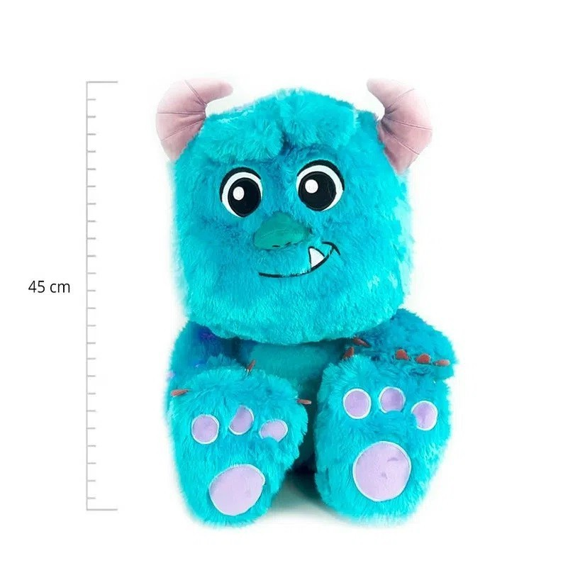 Pelúcia 45cm Montros S.A Sulley Big Feet - Produto Oficial Disney