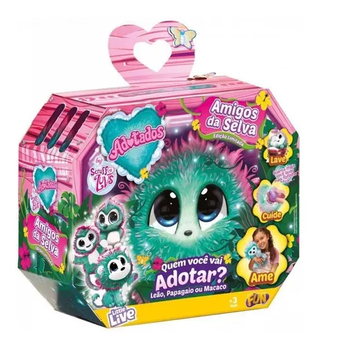 Pelúcia Adotados Amigos da Selva - FUN Brinquedos
