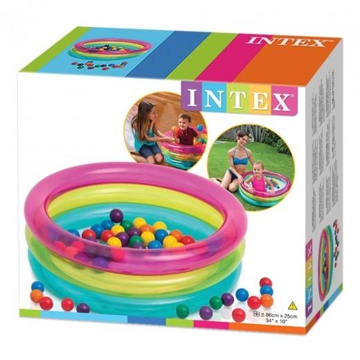 Piscina de Bolinhas Infantil Intex com 50 Bolinhas Coloridas