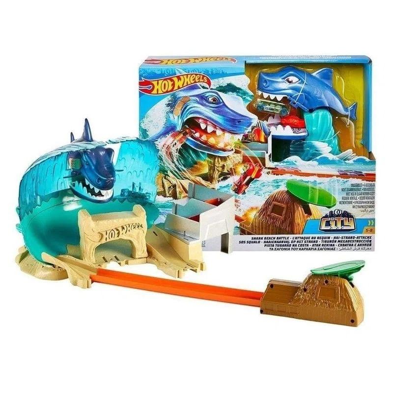 Pista Hot Wheels Batalha na Praia do Tubarão - Mattel