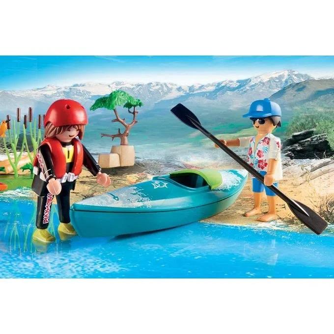 Playmobil Pack Inicial Aventura De Caiaque Na Ilha - 70035
