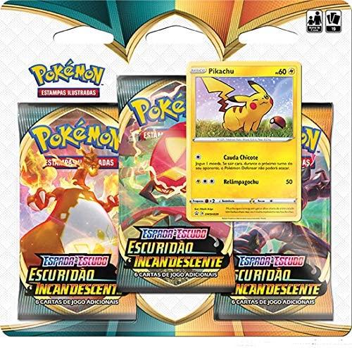 Kit Cartinhas Pokémon, Deck e  Quadro Pikachu Ash  - Copag
