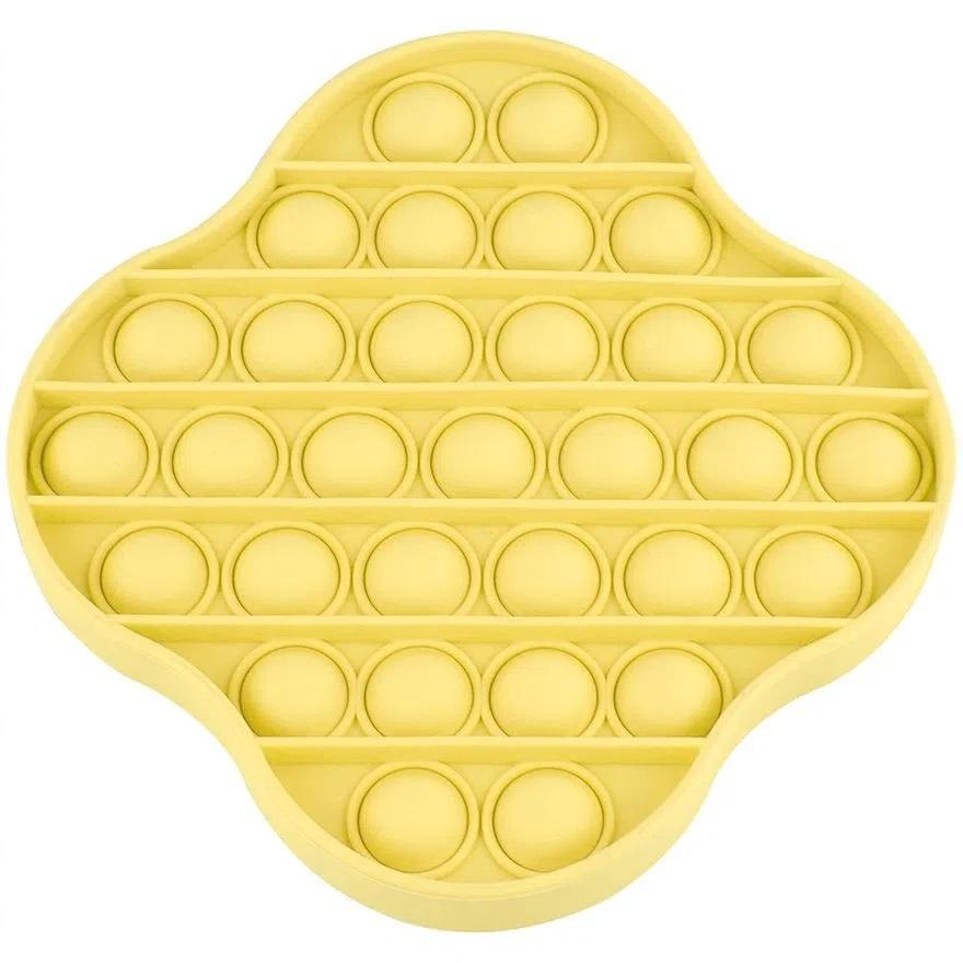 Pop It Amarelo Brinquedo Pop It Fidget Toys Anti Stress Poc Pop Brinquedo Sensorial
