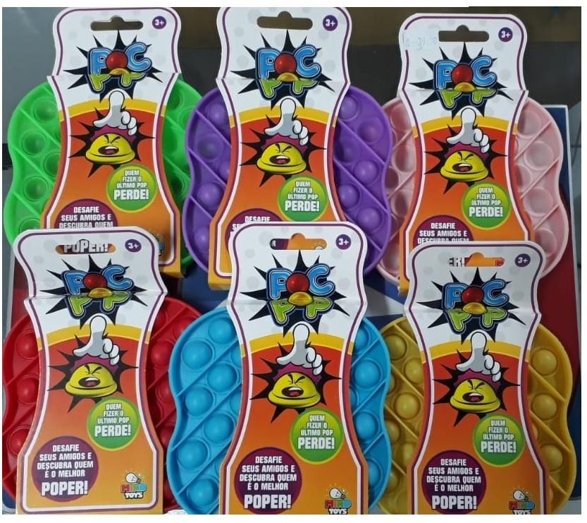 Pop It Rosa bebê  Brinquedo Pop It Fidget Toys Anti Stress Poc Pop Brinquedo Sensorial