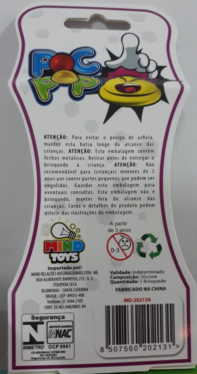 Pop It Vermelho Brinquedo Pop It Fidget Toys Anti Stress Poc Pop Brinquedo Sensorial