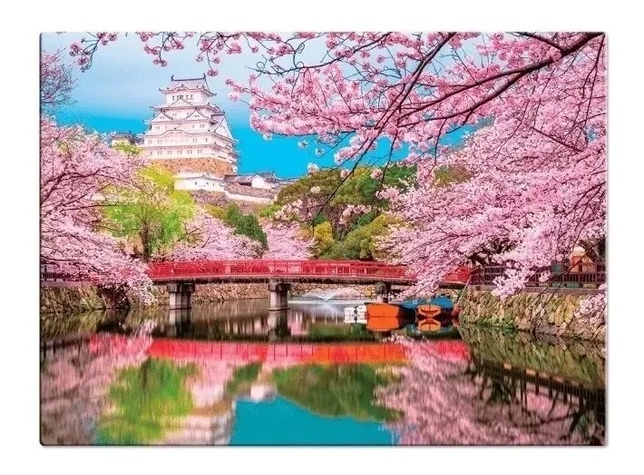 Quebra-Cabeça Cores da Ásia - Japão 1000 Peças - Game Office
