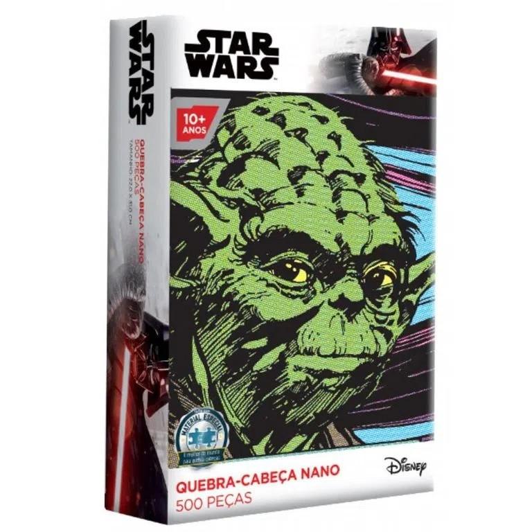Quebra-Cabeça Nano Star Wars Yoda 500 Peças - Game Office