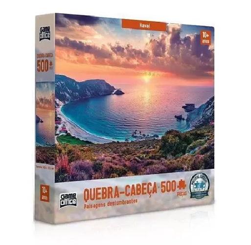 Quebra-Cabeça Paisagens Deslumbrantes Havaí 500 Peças - Game Office