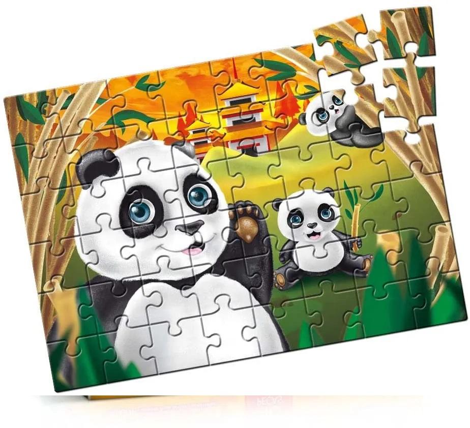 Quebra-Cabeça Pandas 48 Peças- Estrela