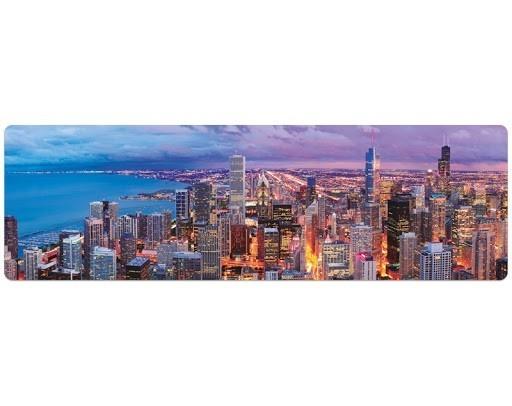 Quebra-Cabeça Panorâmico Skyline de Chicago 1500 Peças - Game Office