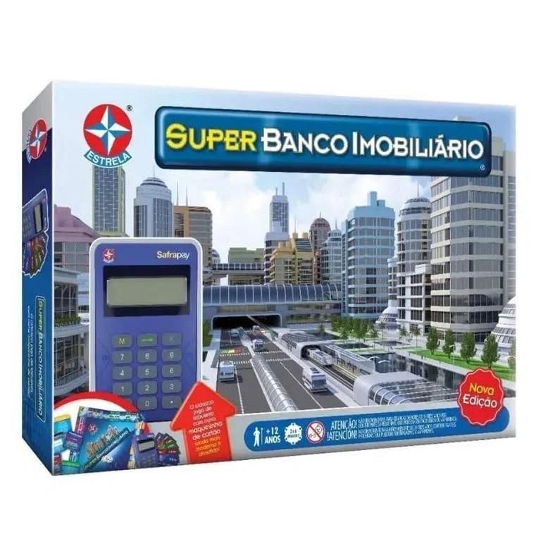 Jogo de Tabuleiro Super Banco Imobiliário Nova Edição - Estrela