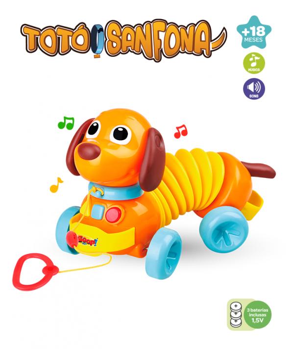 Cachorro Eletrônico Totó Sanfona - Zoop toys