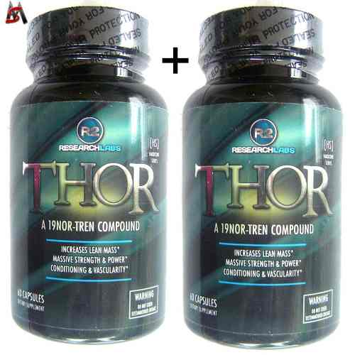 Thor R2 120 Cápsulas 2 Potes Original