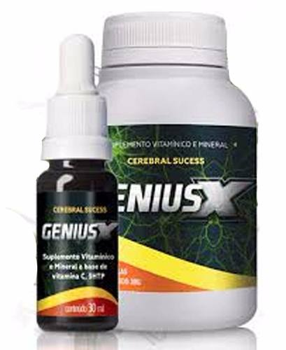 Genius X - Suplemento Cerebral 100% Natural - 1 Kit