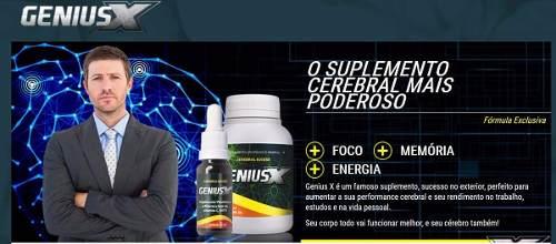 Genius X - Suplemento Cerebral 100% Natural - 1 Kit  - ACTIONLTDA