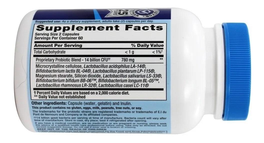 Pb8 - 14 Bilhões Mistura Probiótica 120 Cápsulas Pronta Entrega  - ACTIONLTDA