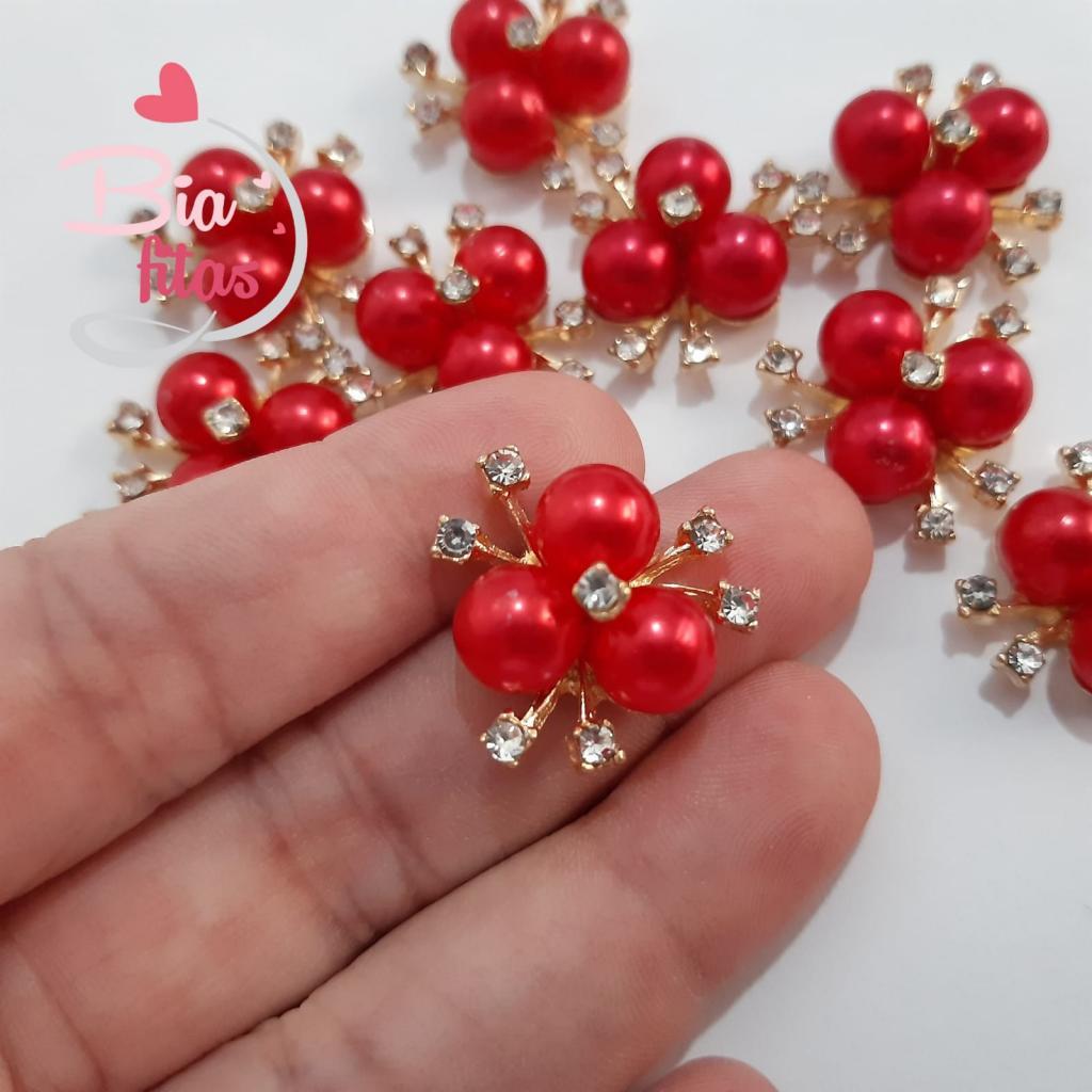 Aplique / Chatom de Flor - Rosa Pink