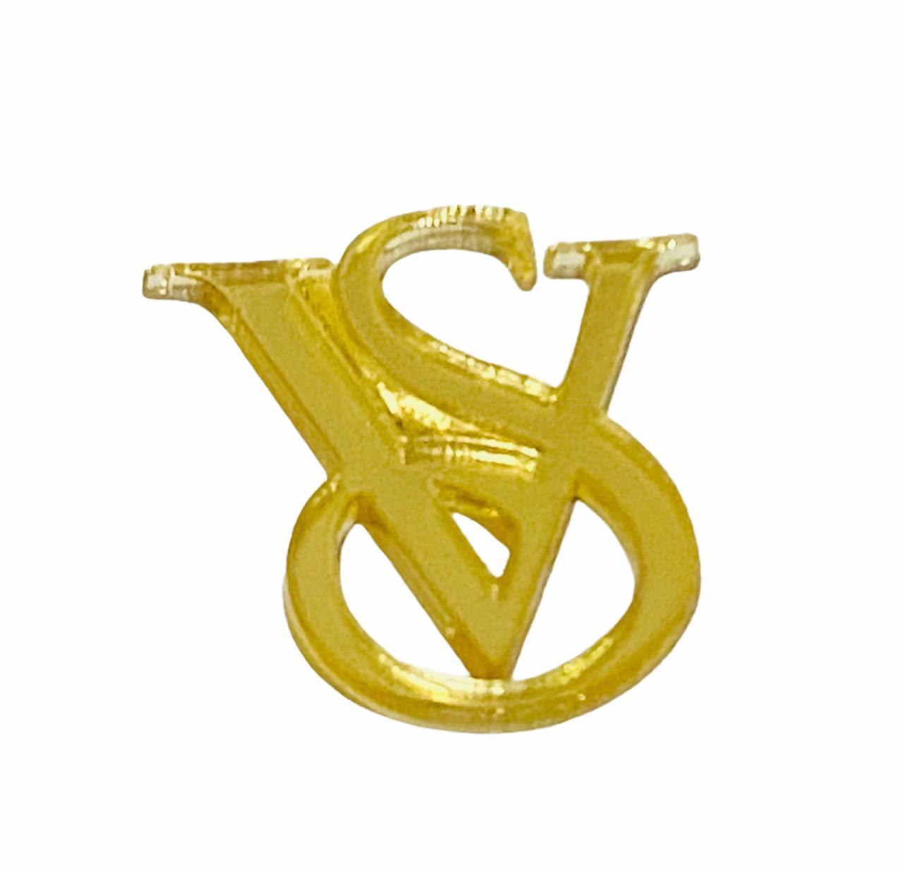 Aplique de Acrilico Dourado - Grife