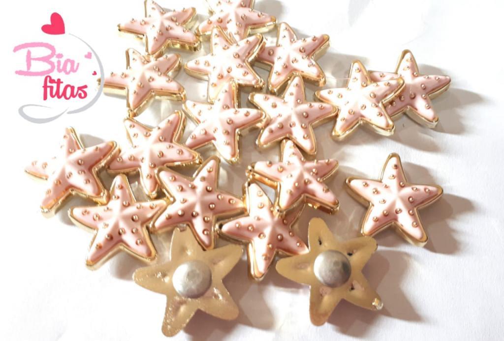 Aplique de Plastico Estrela do Mar Rosa Claro P