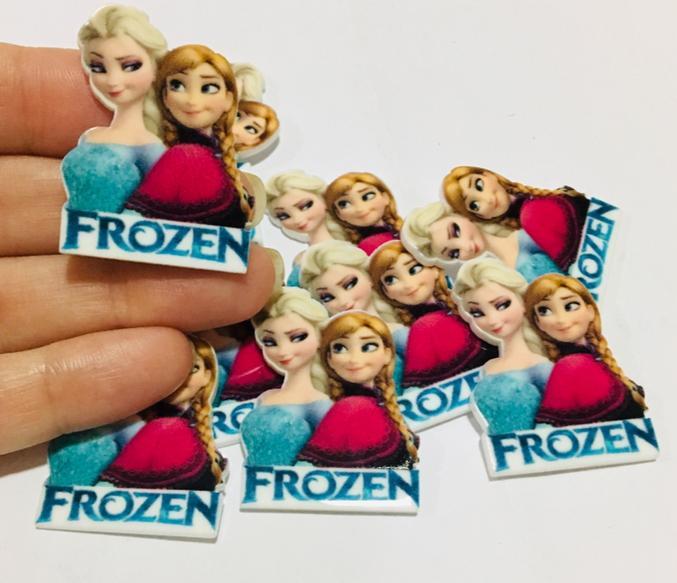 Aplique de Resina Acrilica Princesas Frozen