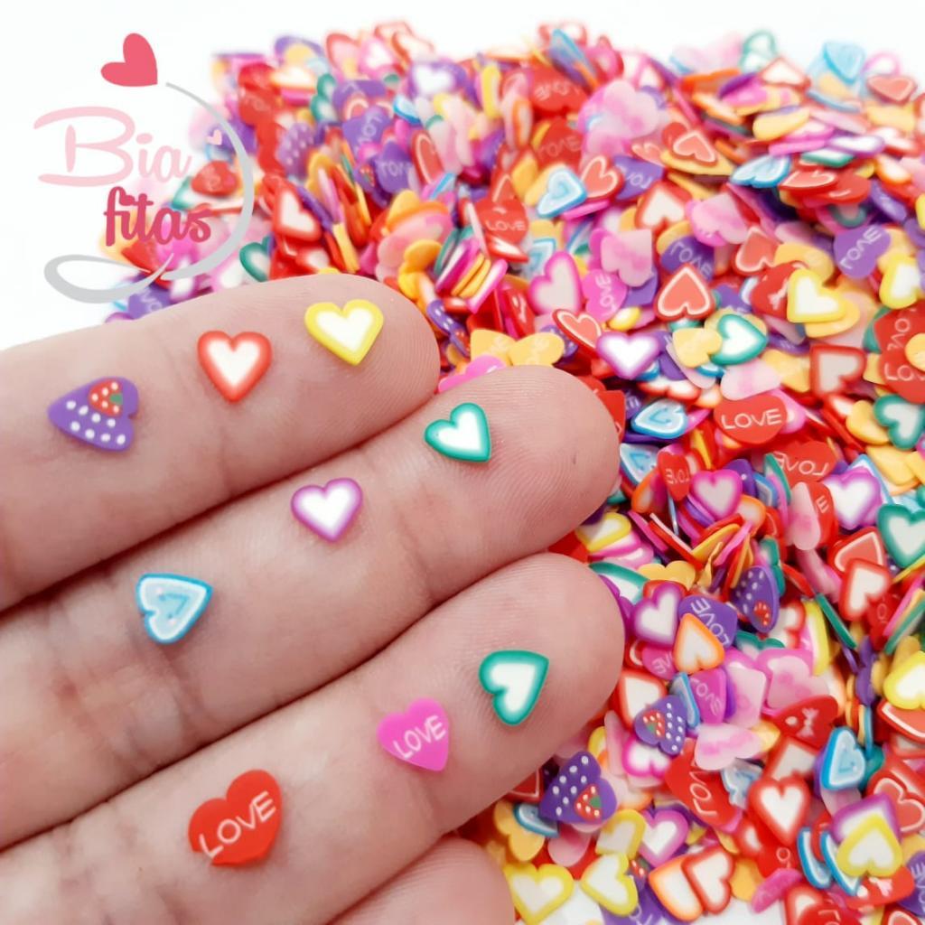 Aplique Micro Mix Corações/ Love (5G - 300 unidades)