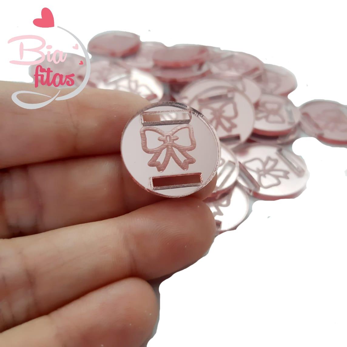 Aplique Passa Fita Laço Rose